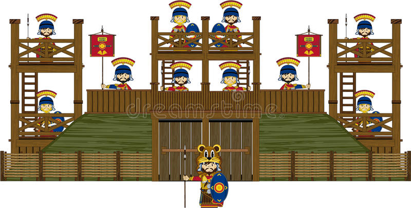 Roman Centurion Soldiers au fort illustration stock