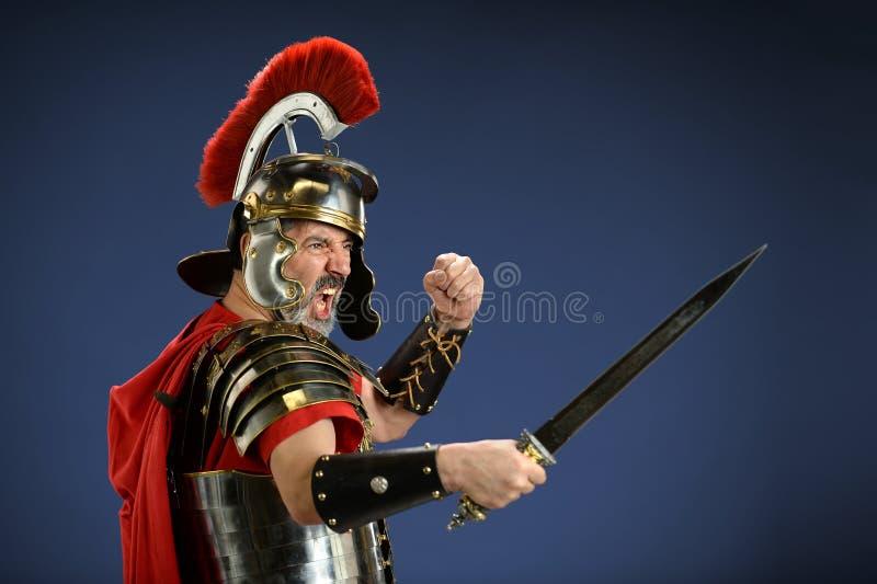 Roman Centurion Using Sword stock fotografie