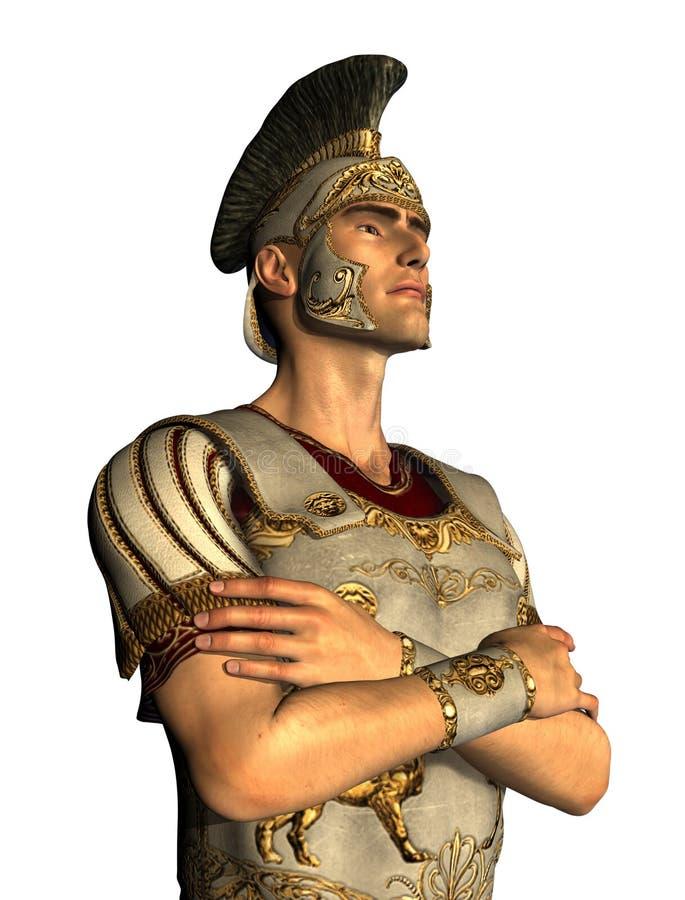roman centurionstående royaltyfri illustrationer