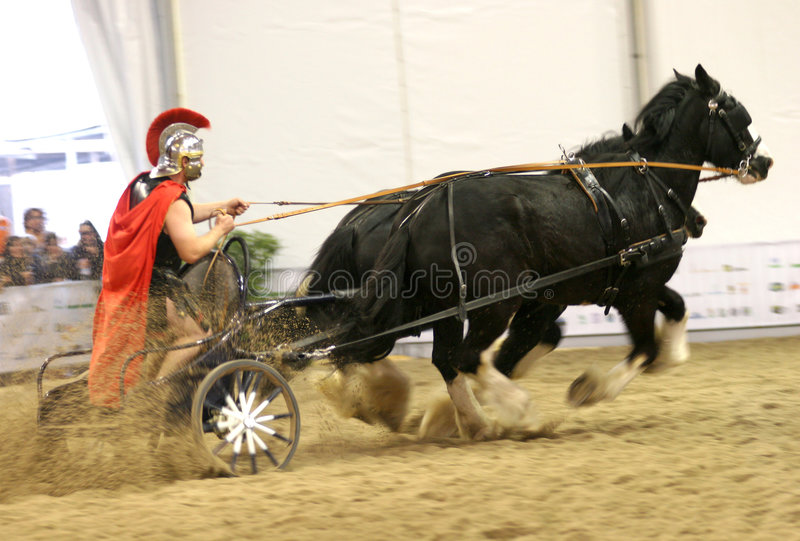 Roman Chariot Racing royalty free stock images
