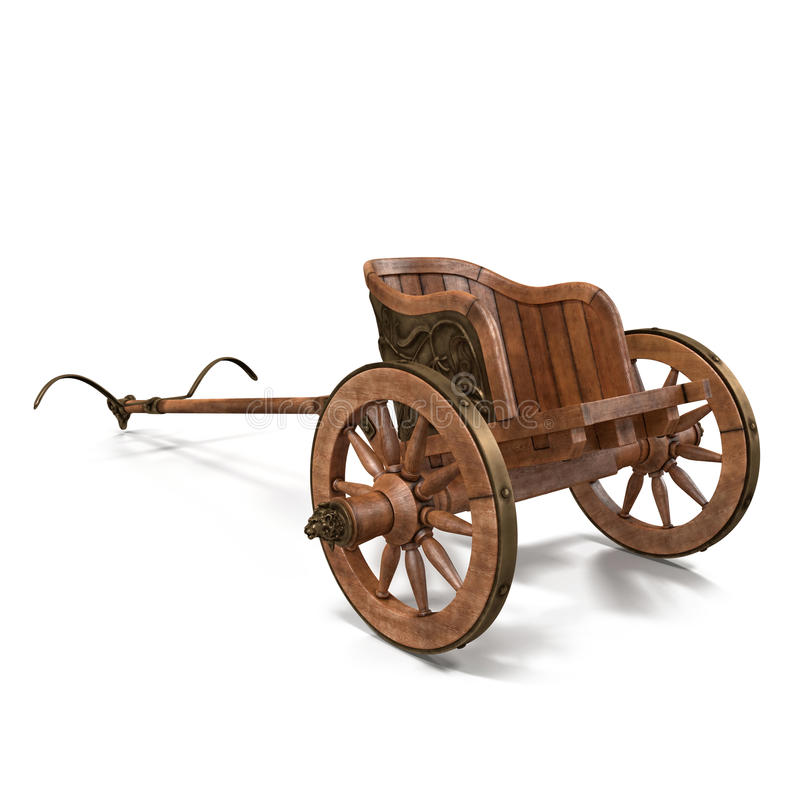 Roman Chariot Racing en el ejemplo blanco 3D ilustración del vector