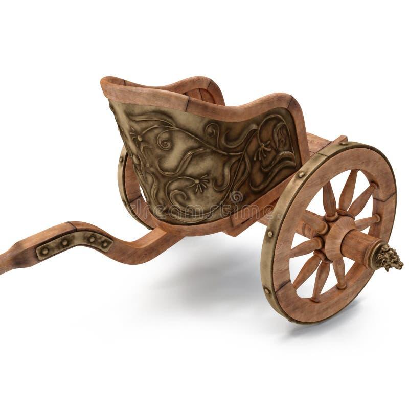 Roman Chariot Racing en el ejemplo blanco 3D stock de ilustración