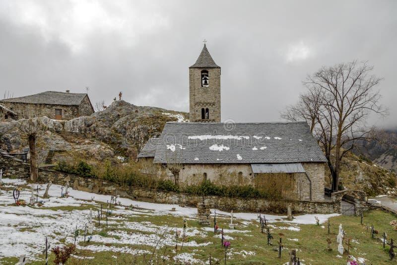 Roman Church van Sant Joan de Boi, Catalonië - Spanje royalty-vrije stock foto