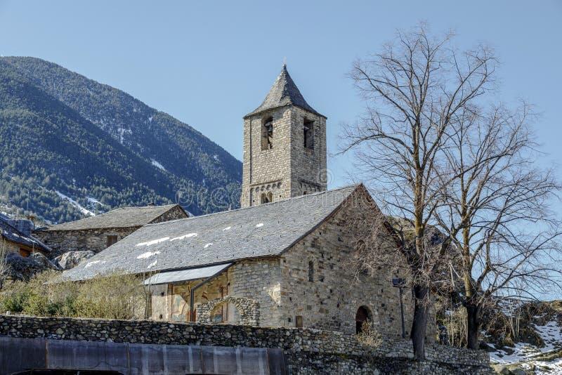 Roman Church van Sant Joan de Boi, Catalonië - Spanje royalty-vrije stock foto's