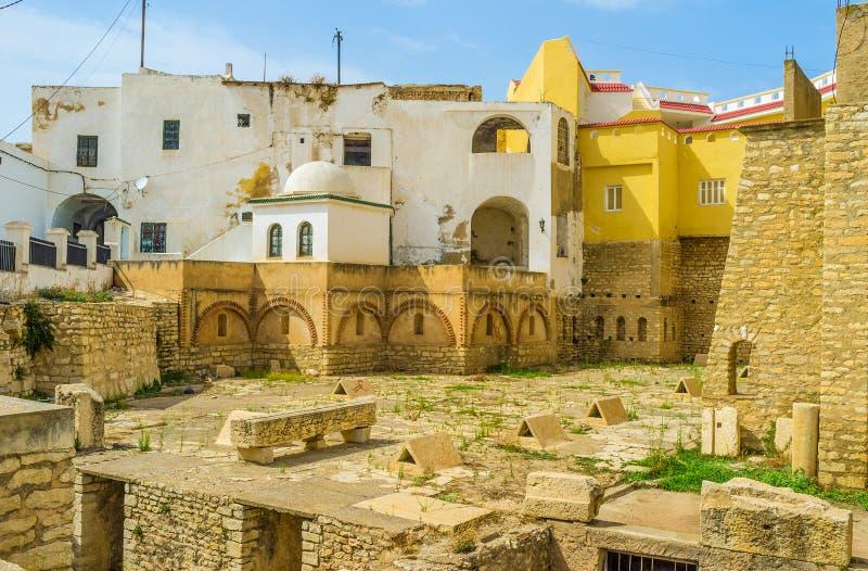 Roman Cisterns av El Kef arkivfoto