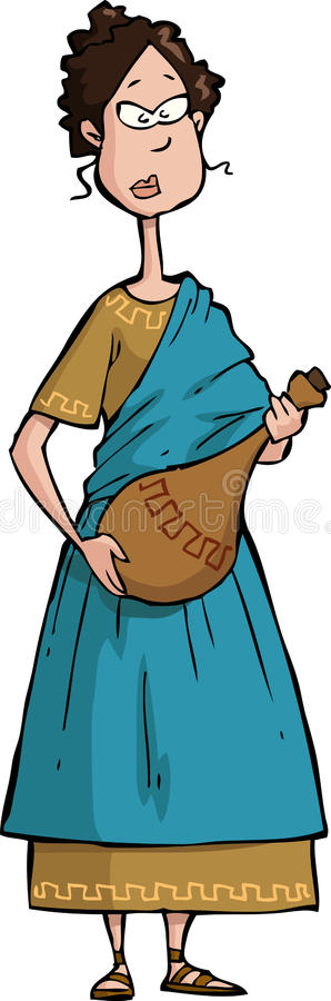 Roman citizen. On a white background vector royalty free illustration