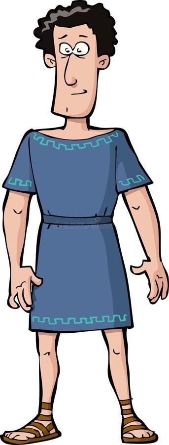 Roman citizen. On a white background vector stock illustration