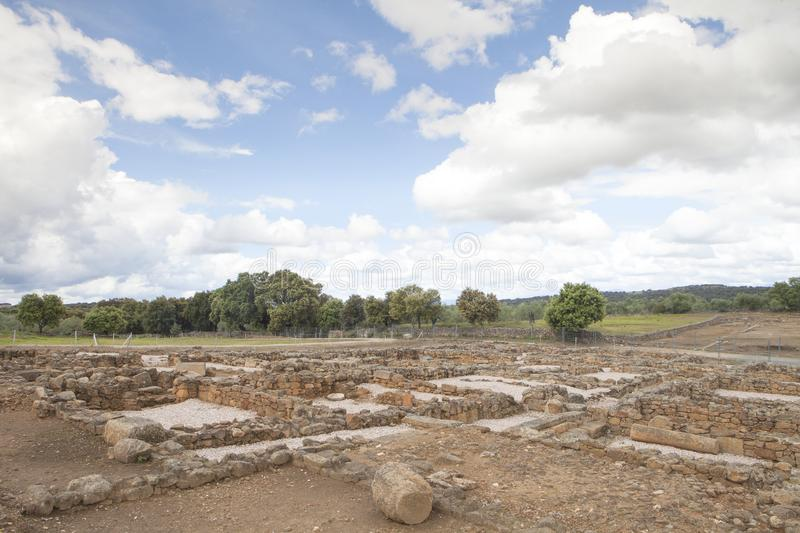 The Roman city of Cáparra in Extremadura, Spain. The Roman city of Cáparra is located in the ancient Roman province of Lusitania, in the locale of the Alag royalty free stock image