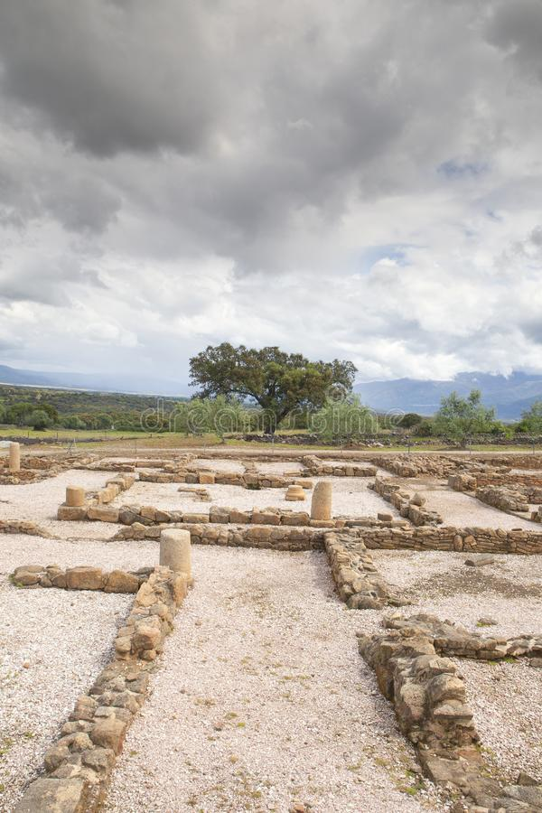 The Roman city of Cáparra in Extremadura, Spain. The Roman city of Cáparra is located in the ancient Roman province of Lusitania, in the locale of the Alag stock images