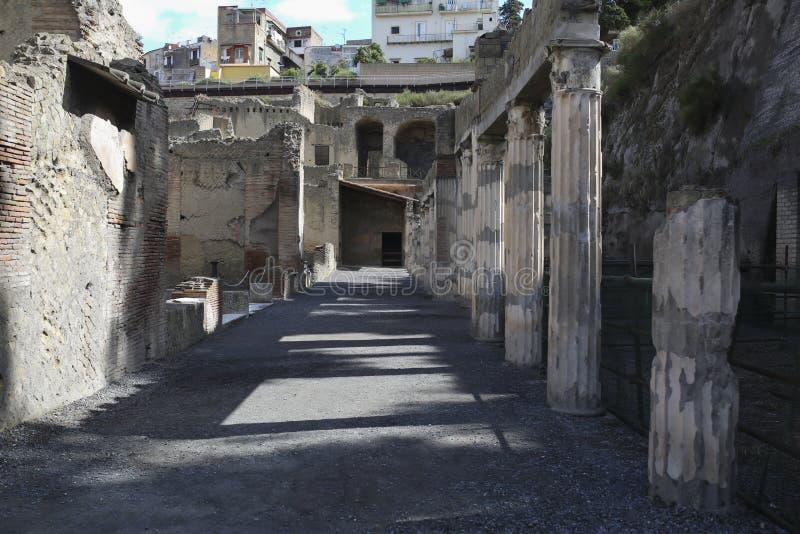 Roman City enterré de Herculanum près de Naples en Italie du sud images libres de droits