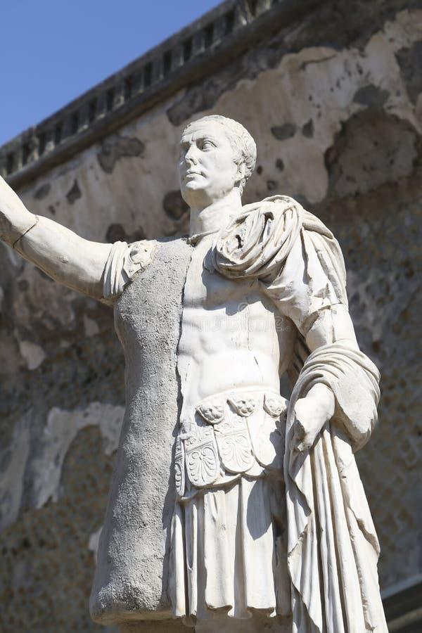 Roman City enterrado de Herculano cerca de N?poles en Italia meridional foto de archivo libre de regalías