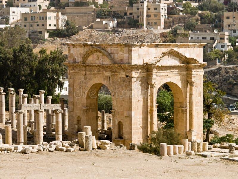 Roman city in Jerash stock photos