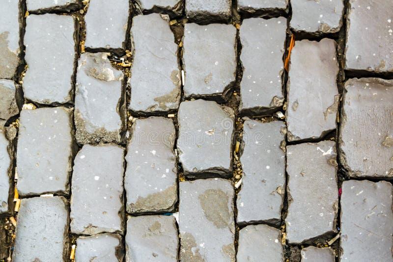 Roman Cobblestone Pathway fotografia de stock
