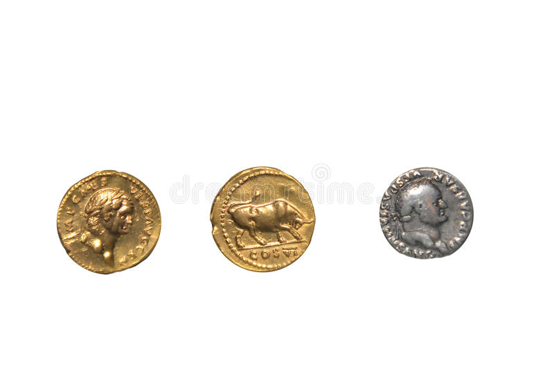 Download Roman coins stock photo. Image of vespasian, coins, gold - 28451578