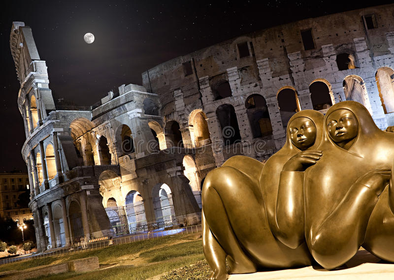 Roman Coliseum stock photos
