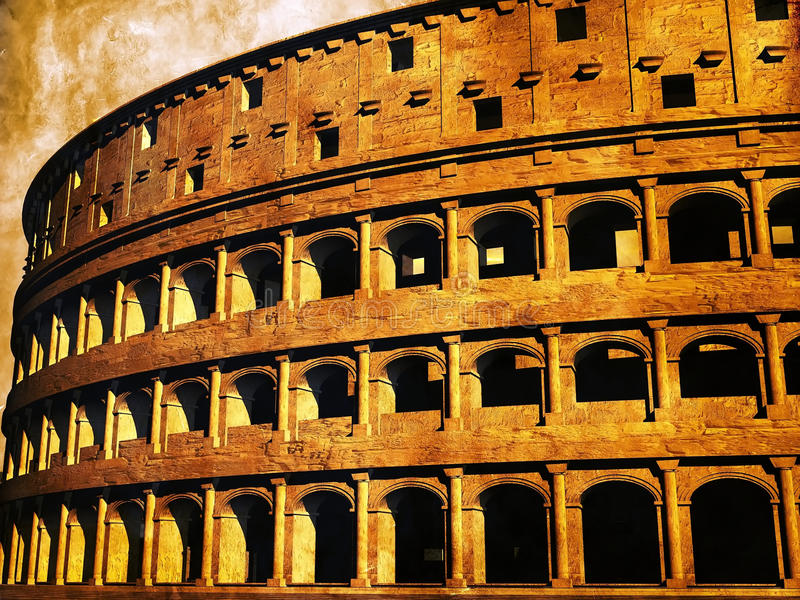The Roman coliseum stock illustration