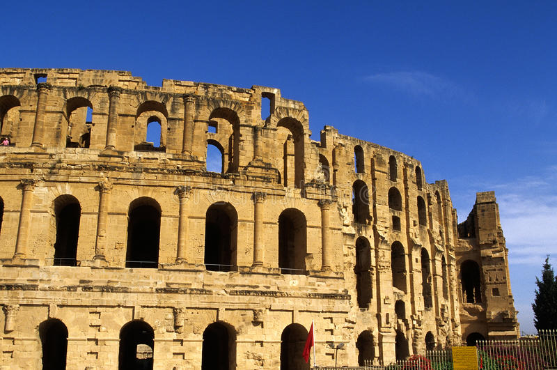 Download Roman Coliseum- El Djem, Tunisia Stock Image - Image: 9562555
