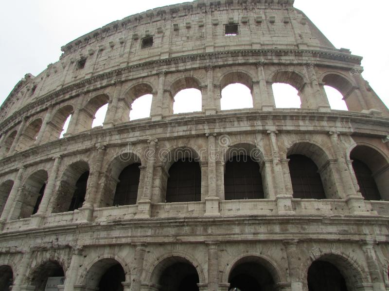 The Roman Coliseum is the largest amphitheater in the world, Italy. Tourism, vacation, attractions, lifelong experiences, history and travel to other countries stock images