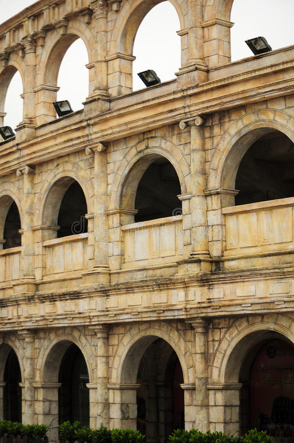Roman Coliseum Replica Macao imagens de stock royalty free