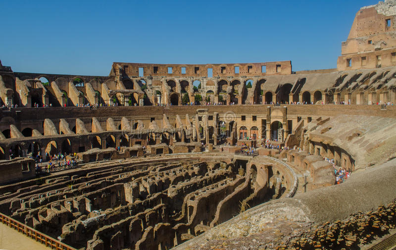 Roman Colliseum interior royalty free stock photos