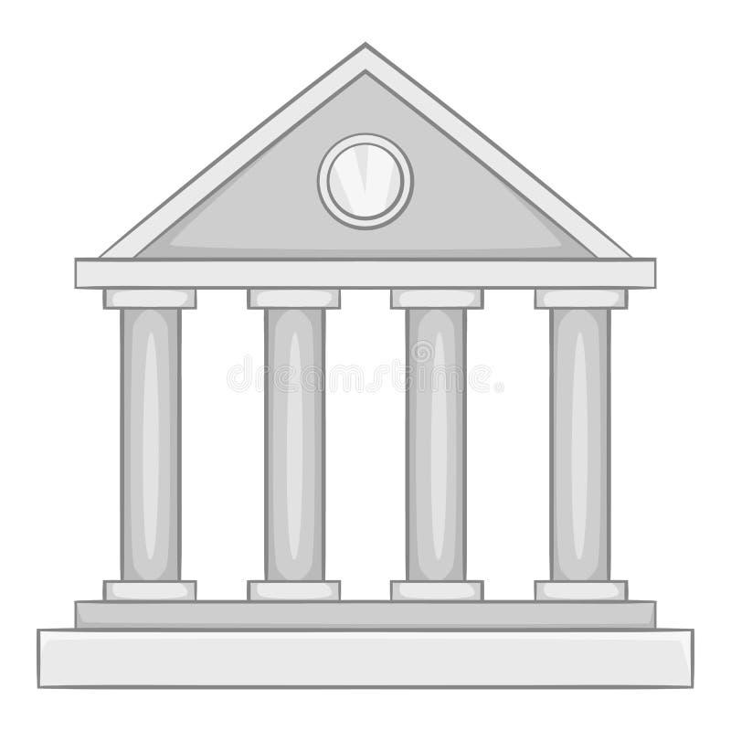 Roman colonnade icon, gray monochrome style. Roman colonnade icon. Gray monochrome illustration of roman colonnade icon for web stock illustration
