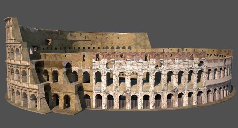 Roman Colosseum 02 stock illustrationer