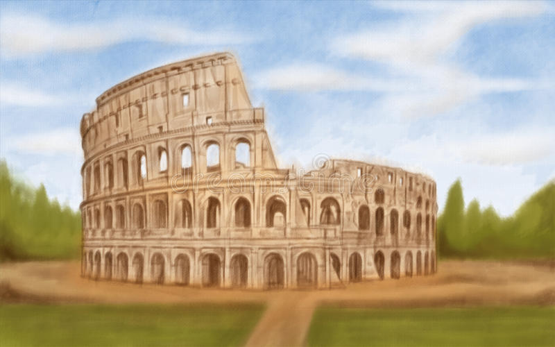 roman colosseum royaltyfri fotografi