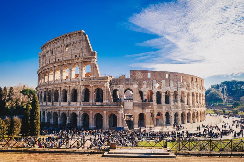 The Roman Colosseum in Rome, Italy HDR image stock photos