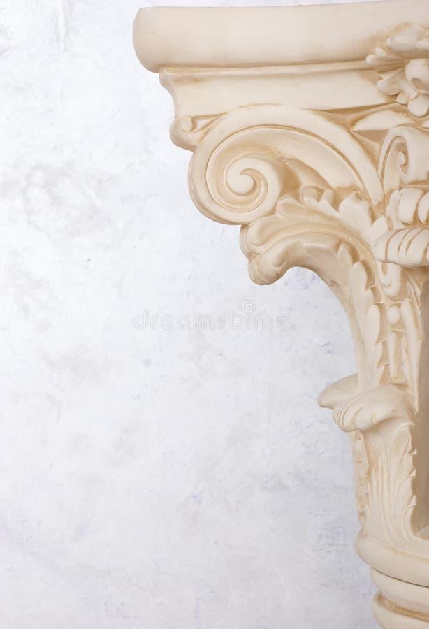Roman column closeup stock photo