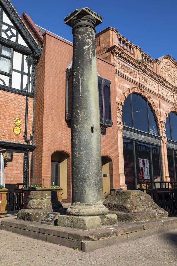 Roman Column in de stad van Chester royalty-vrije stock afbeeldingen