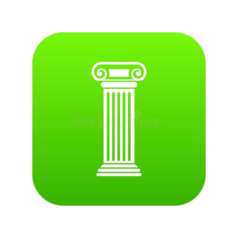 Roman column icon digital green royalty free illustration