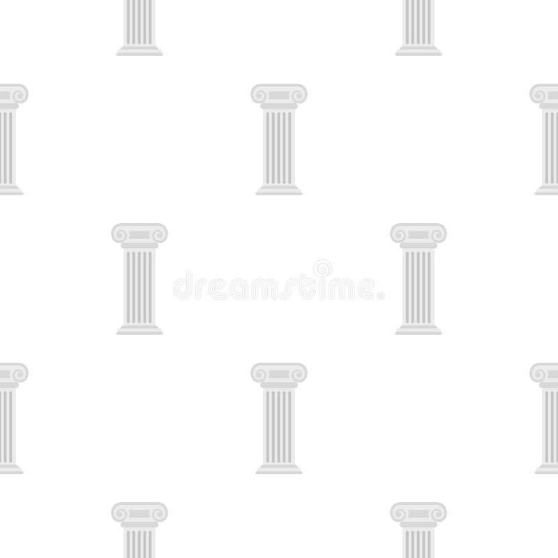 Roman column pattern flat vector illustration