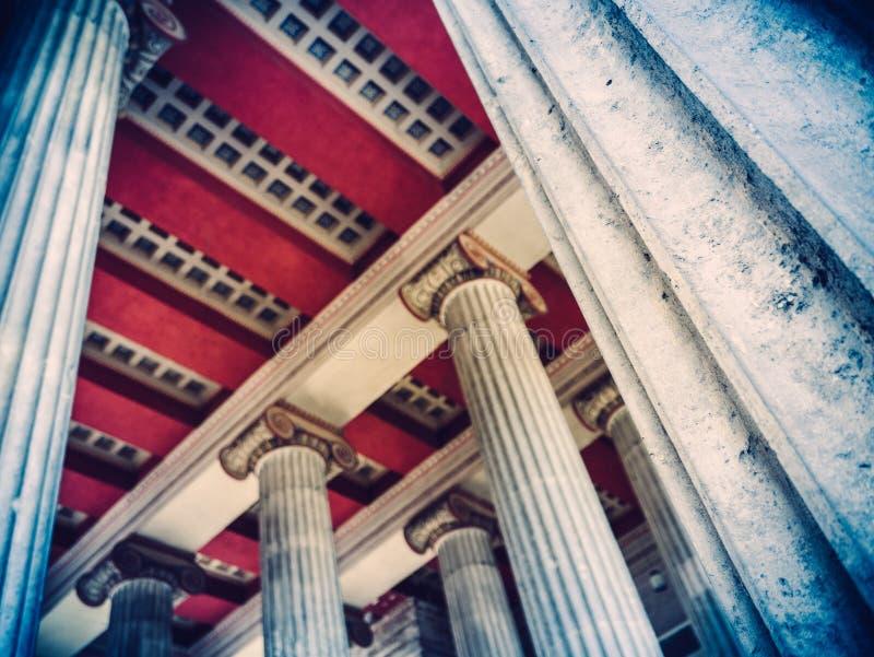 Roman Column Pillars antico fotografie stock libere da diritti
