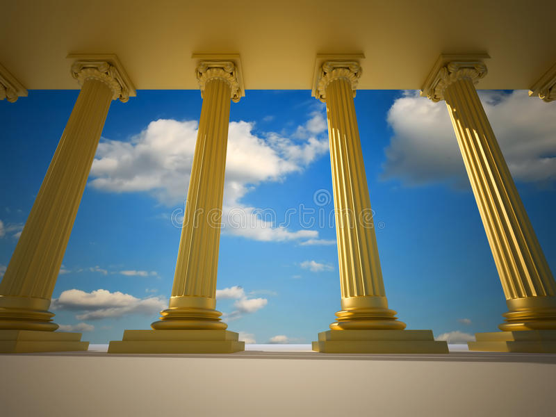 Roman columns vector illustration
