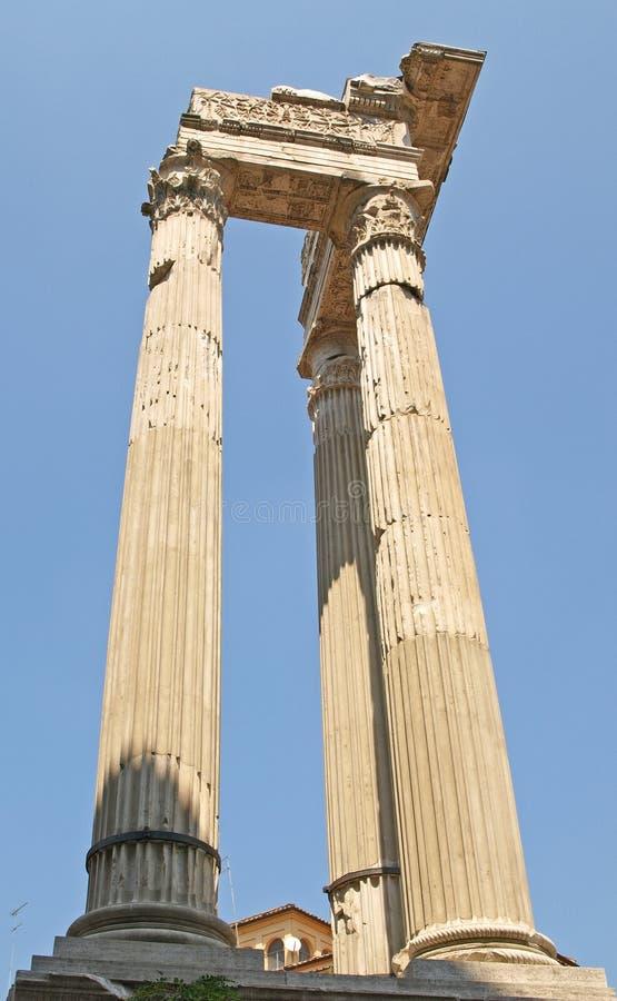 Roman Columns Near The Marcello Theatre Royalty Free Stock Photography