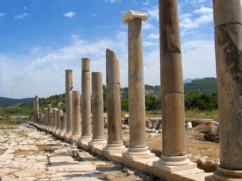 Download Roman columns, Patara stock photo. Image of structure - 12533928