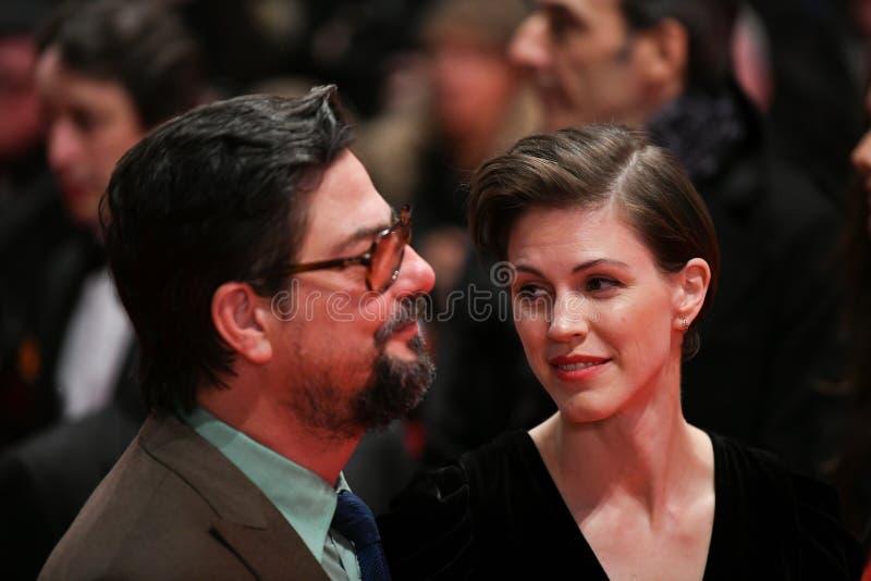 Roman Coppola e Jennifer Furches durante il Berlinale 2018 fotografia stock