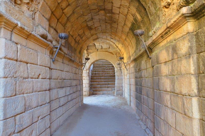 Roman corridor royalty free stock photo
