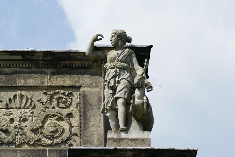 Roman Diana Goddess gud arkivbild