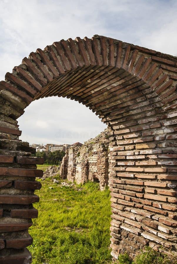 Roman Edifice, parte da cidade velha de Constanta, Romênia foto de stock royalty free