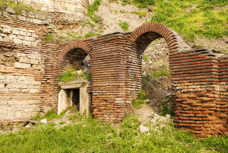 Roman Edifice, parte da cidade velha de Constanta, Romênia fotografia de stock royalty free