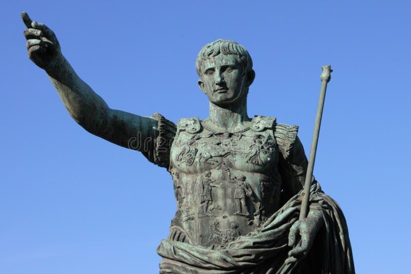 Roman emperor Augustus stock image