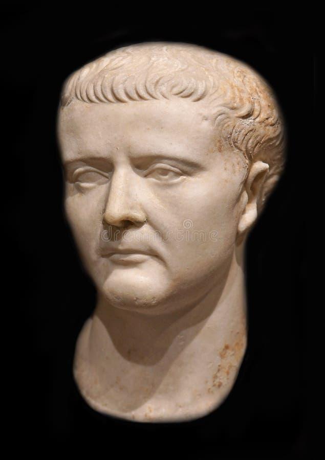 Roman Emperor Tiberius Caesar royaltyfri bild