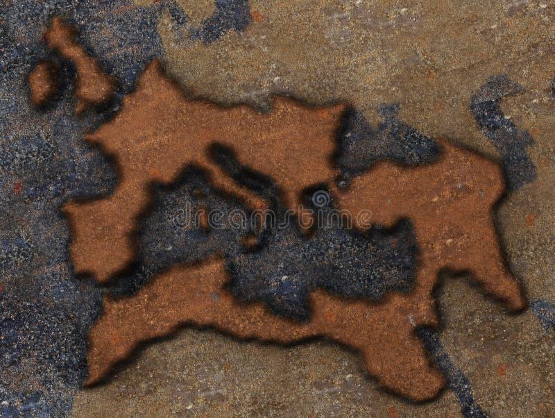 Roman Empire Map Royalty Free Stock Photo