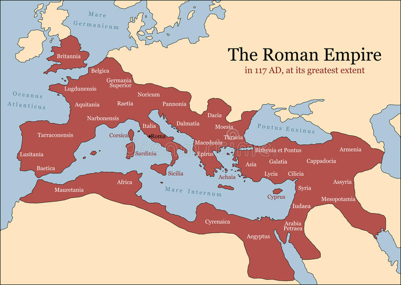 Roman Empire Provinces fotografia stock