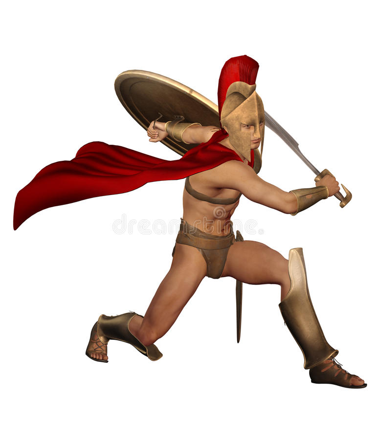 Roman fighter vector illustration