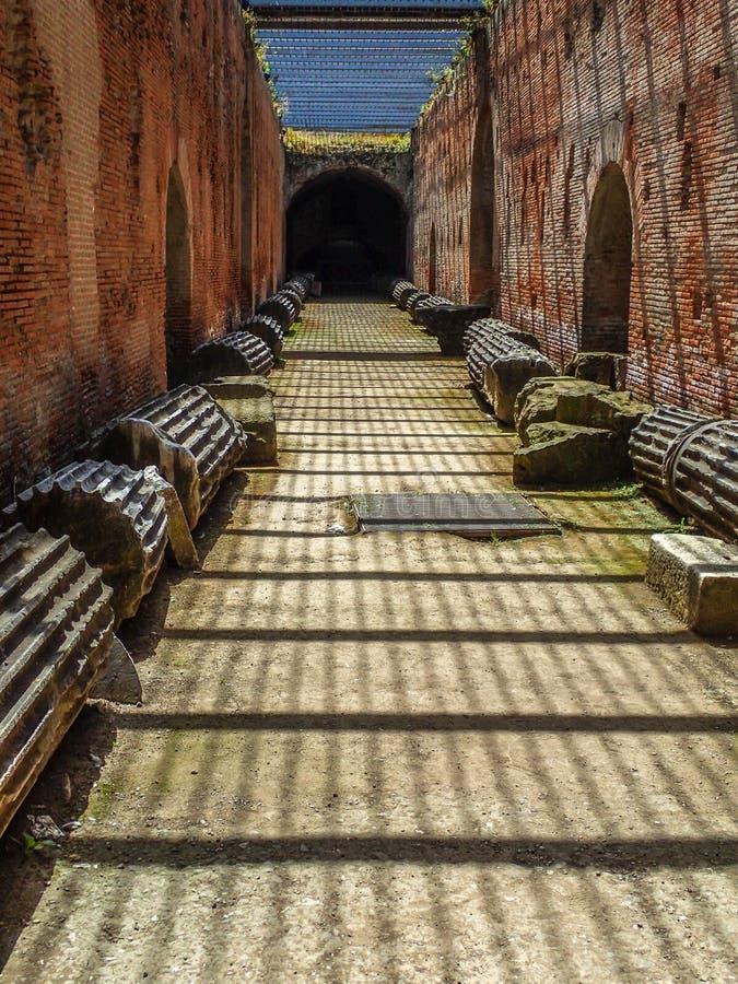 Roman Flavian Amphitheater Pozzuoli, Italien stockfotografie