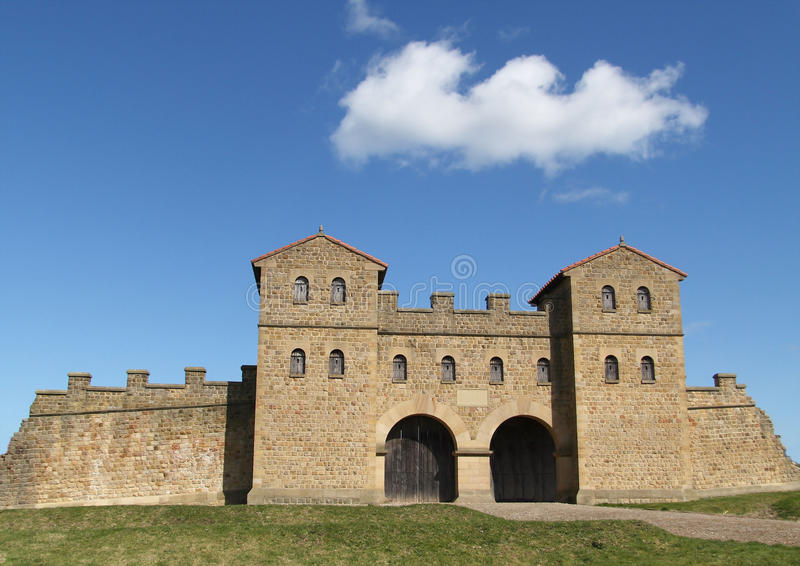 Roman Fort Gateway bei Arbeia stockbild