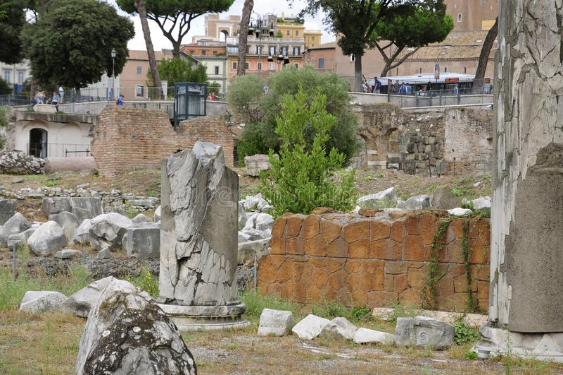 Roman Forum stock foto's
