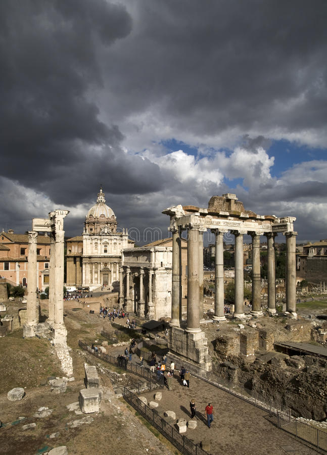 Download Roman Forum stock image. Image of history, titus, arch - 15411007